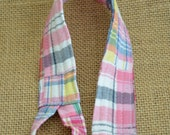 Madras Plaid Toy Leash - Pink