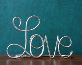 Simple Classy Love Wedding Cake Topper