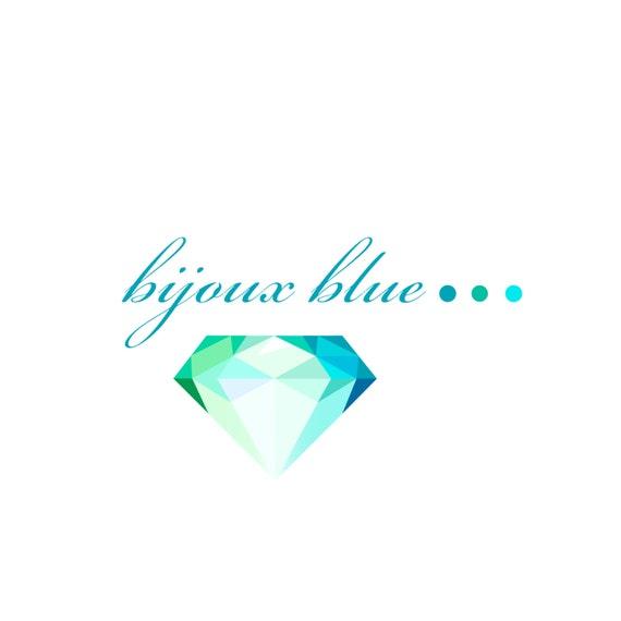 Logo Design - Mint Seafoam Green Blue Pre-made modern logo design
