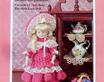 "Fibre Fiber Craft RACHEL 13"" Soft Body Doll  - Crochet Doll Clothes Clothing Pattern"