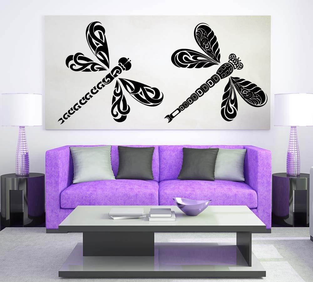 Dragonfly decor dragonfly decal tribal nursery dragonfly for Dragonfly mural
