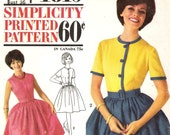 Retro Party Dress Pattern 1960s Simplicity 4819 (Womens size 16)