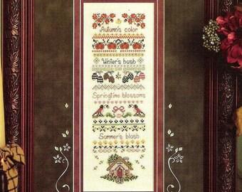 Four Seasons Cross Stitch Sampler Pattern