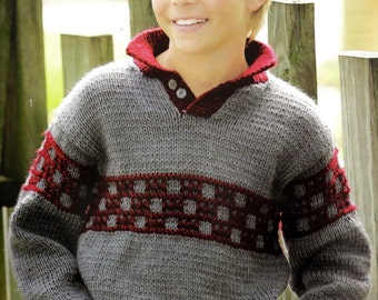 Kids Knitted Sweaters Patterns