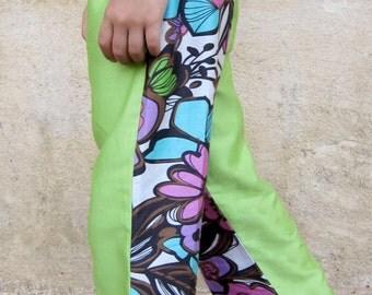 Happy Pants - GIRLS size 2 - 6 - low rise, skinny leg, pure cotton - girls lounge pants, amazing fabric.