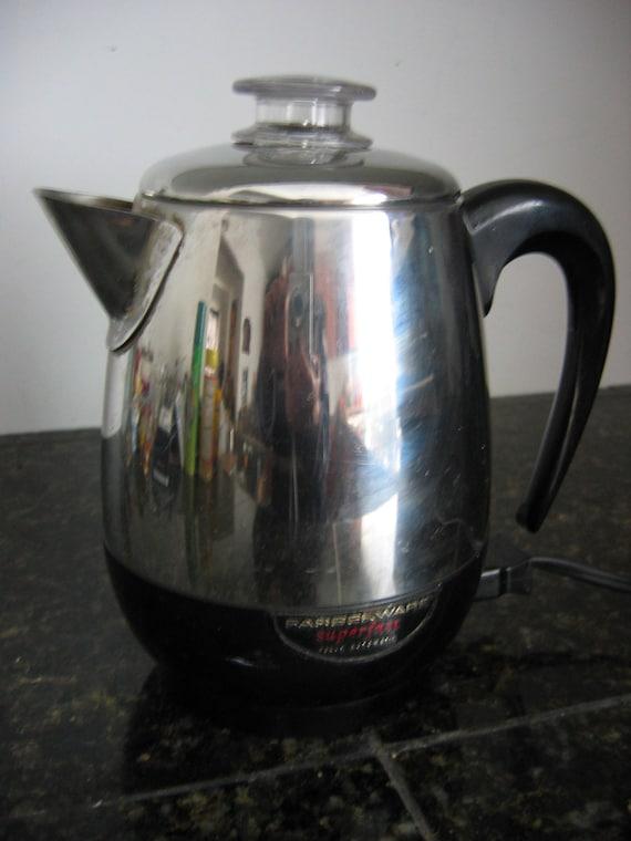 60's Vintage Electric Coffee pot. 4 CUP percolator. 6