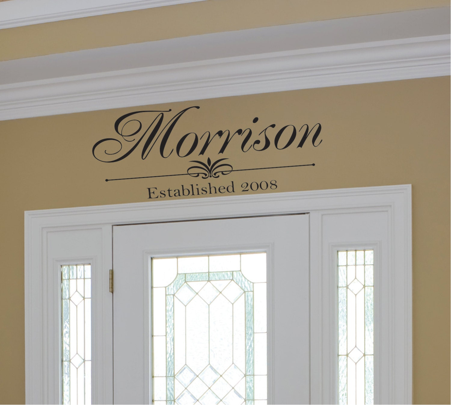 Family Monogram Vinyl Wall Decal Family Vinyl Lettering