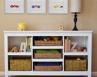 Roadster Car, Vintage Car, Children's Wall Art, Children's Art Print, Nursery Decor- Set of three prints