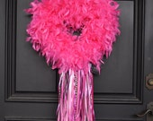 Valentine Heart Wreath Cupids Heart with Ribbons