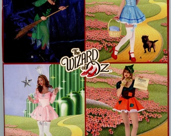 Simplicity 0552 The Wizard of Oz Adult Costume Sewing Pattern Dorothy Wicked Witch Glinda Scarecrow Sizes 8-16 UNCUT