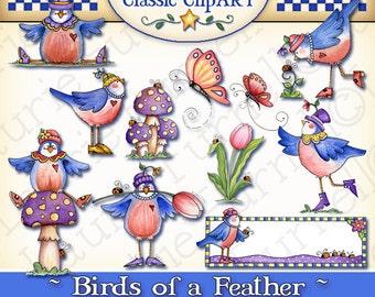 Blue Bird Digital Art, cute bird clipart,Laurie Furnell, Spring clipart, tulip clipart, springtime clip art, printables, garden clipart