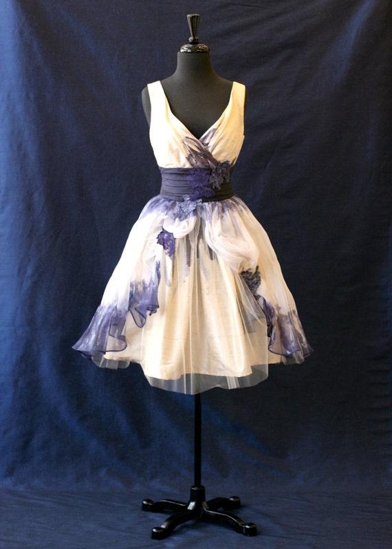 Items Similar To Unique Short Wedding Dress Silk Shantung