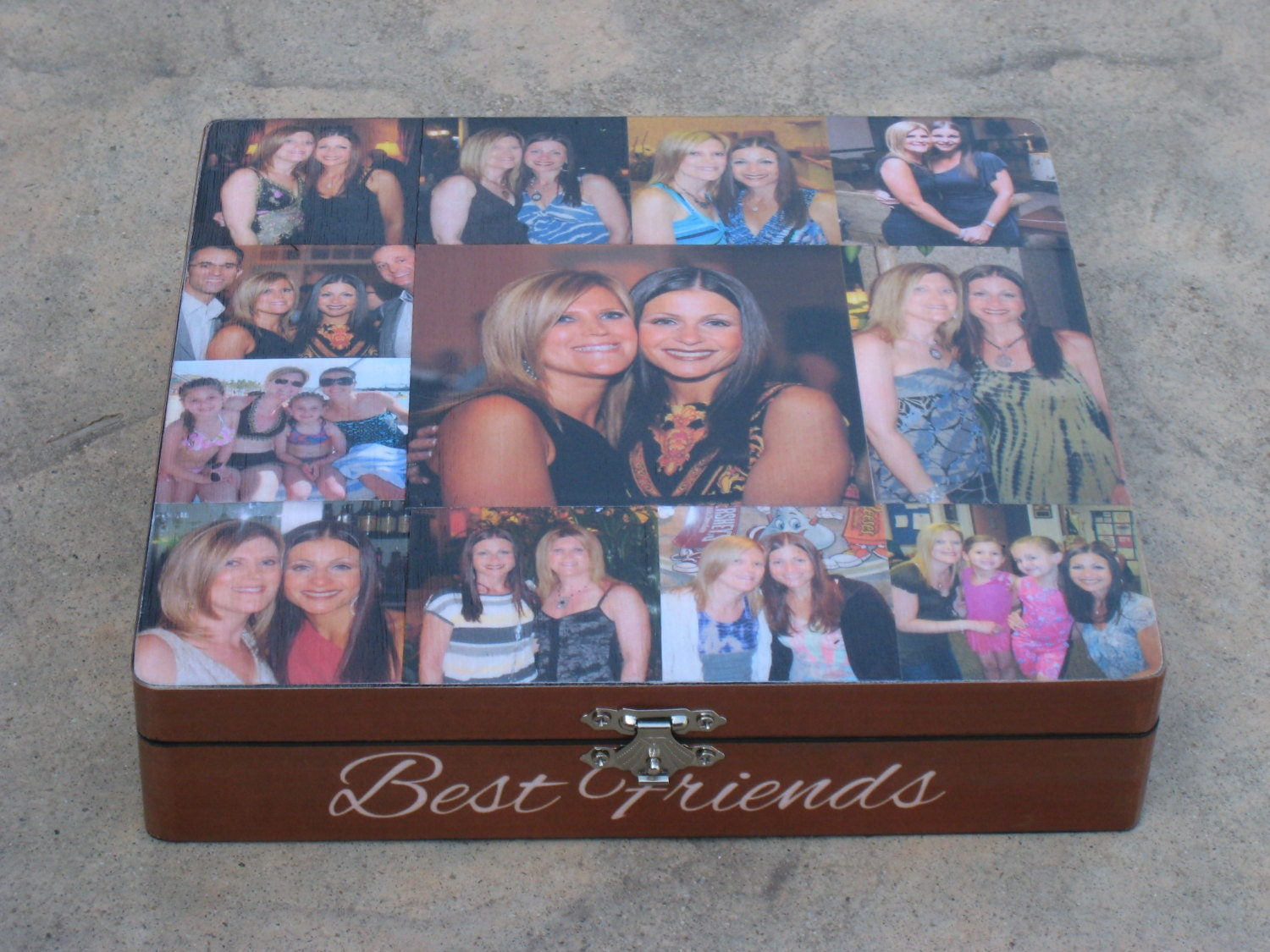 best friends photo collage keepsake box unique maid of honor