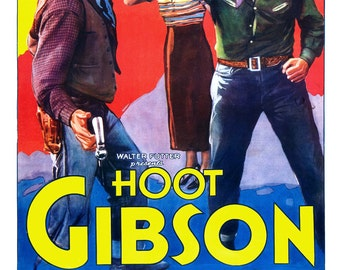 """Hoot Gibson in Swifty - Home Theater Media Room Decor - Classic Western Movie Poster Print  13""""x19"""" - Vintage Movie Poster -"""