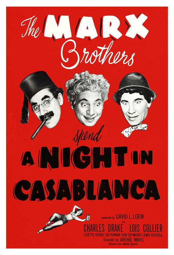 The Marx Brothers A Night In Casablanca Home Theater Media