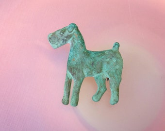 Terrier Brooch made from Vintage Ornament