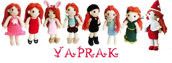 PATTERN : Yaprak the girl with changeable clothes