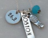 Marathon Necklace - Hand Stamped Necklace - 26.2 Necklace - Boston Marathon Necklace - Hand Stamped Jewelry - New York Marathon Necklace