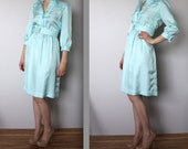 Vintage Pale Turquoise Dress