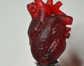 Anatomical Heart Winestopper, Translucent Red