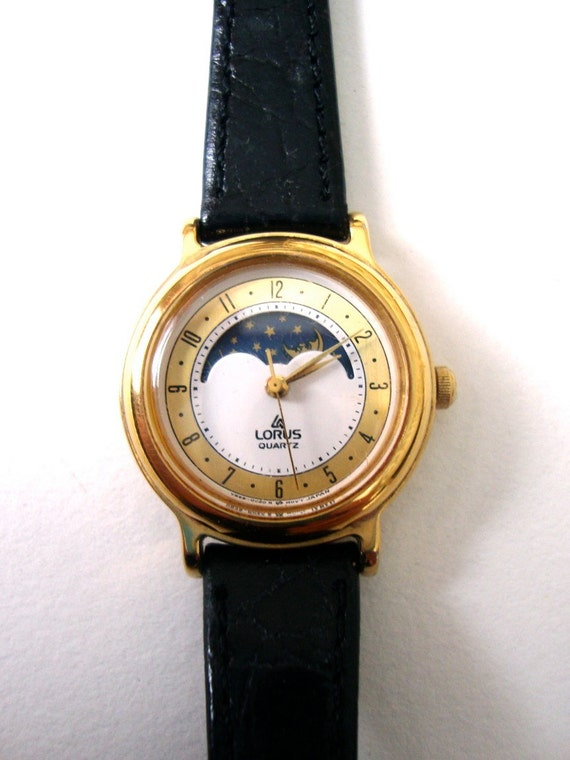 Vintage Lorus Watch Phased Out Vintage Womens Lorus Moon