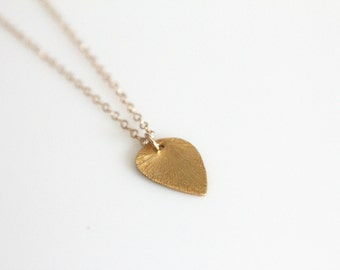 Teardrop Necklace // Gold or Silver