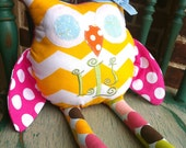 Personalized Stuffed Owl Toy