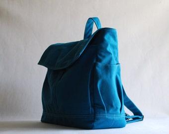 Sale SALE SALE 40% / HUGO Unisex Backpack in Teal (Water Resistant)  Laptop / Diaper Bag/ Satchel / Rucksack