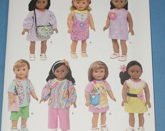 New Simplicity 18' doll Clothes Pattern 1713 OS
