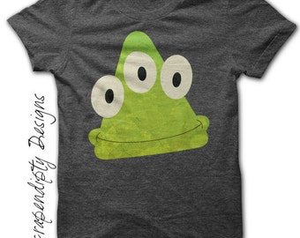 Green Monster Iron on Shirt PDF - Space Alien Iron on Transfer / Monster Birthday Party / Cute Baby Clothes / Toddler Clothing Tshirt IT15