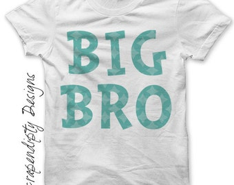 Brother Iron on Transfer - Birth Announcement Iron on Shirt / DIY Toddler Kids Boys Shirt / Big Brother Little Brother Shirt Design IT84-C