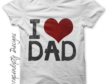 Dad Iron on Shirt PDF - Father Iron on Transfer / Love Dad / DIY Fathers Day Shirt / Kids Boys Clothing Tops / Father Son Tshirt IT198-P