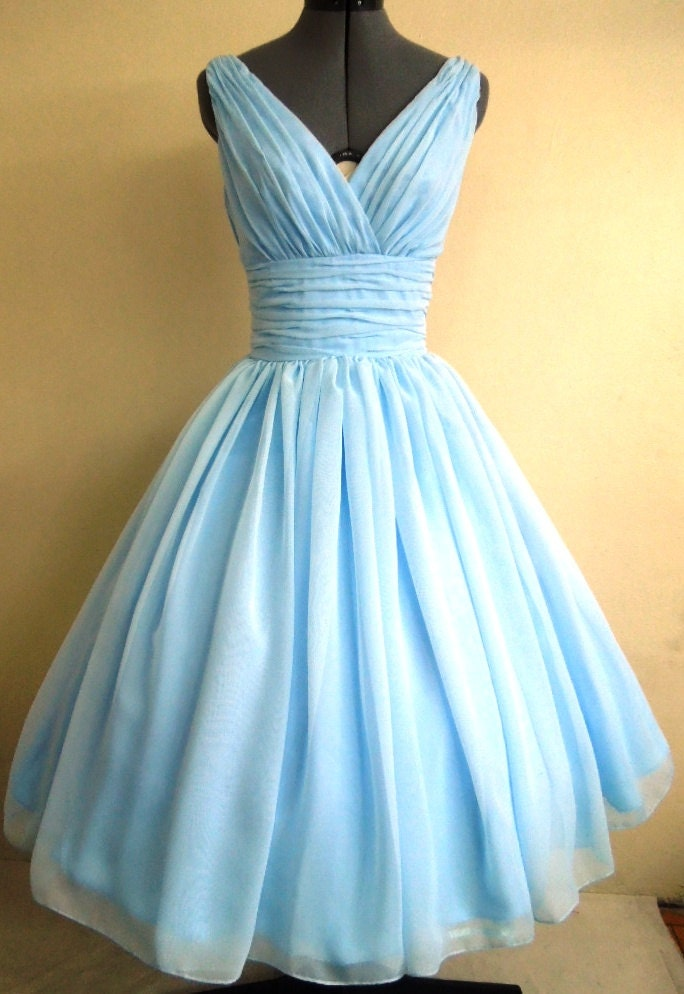 50s style dress simple and elegant light sky blue by for 1950s style wedding dresses for sale
