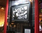 Gallery Size Paper Cutting - Starry Night Statement Size Papercutting, Huge Papercut, Large Paper Cutting, Papercut Art, Black White Decor