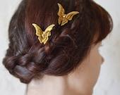 Butterfly hair pins hair clip gold hair accessories
