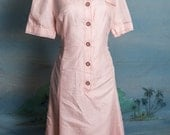 Sporty pink button up German label dress - BBW - L - XL sized