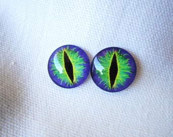 Glass eyes 14mm dragon eyes for jewelry making cabochon craft supplies