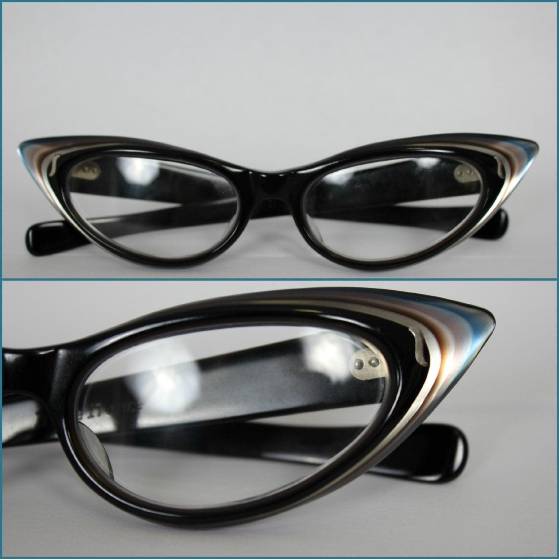 Purple Cat Eye Glasses