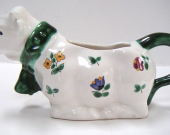 Vintage Ceramic Cow Creamer. Made in Austria. Mother's Day Gift,Christmas Gift. Spring 2015