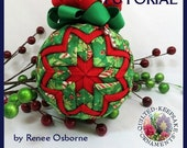 How To Make Quilted Keepsake Ornaments -  PDF Tutorial - DIY - Instant Download, QKT91241