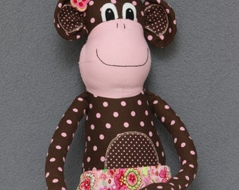 Monkey Magoo, made to order (stuffe animal, toy, plush, softie, decoration) made from a Melly and Me pattern