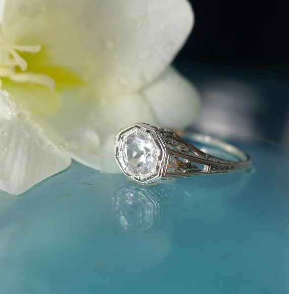 Herkimer Diamond Sterling Silver Ring, Natural Herkimer Diamond, Antique Style  Ring, Promise Ring, Gemstone Ring, Engagement Ring