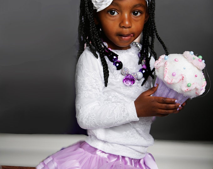 Lavender Purple or other color Chiffon Pixie Pettiskirt lined with Satin Ribbon adapted from Petti Skirt for Baby or Child