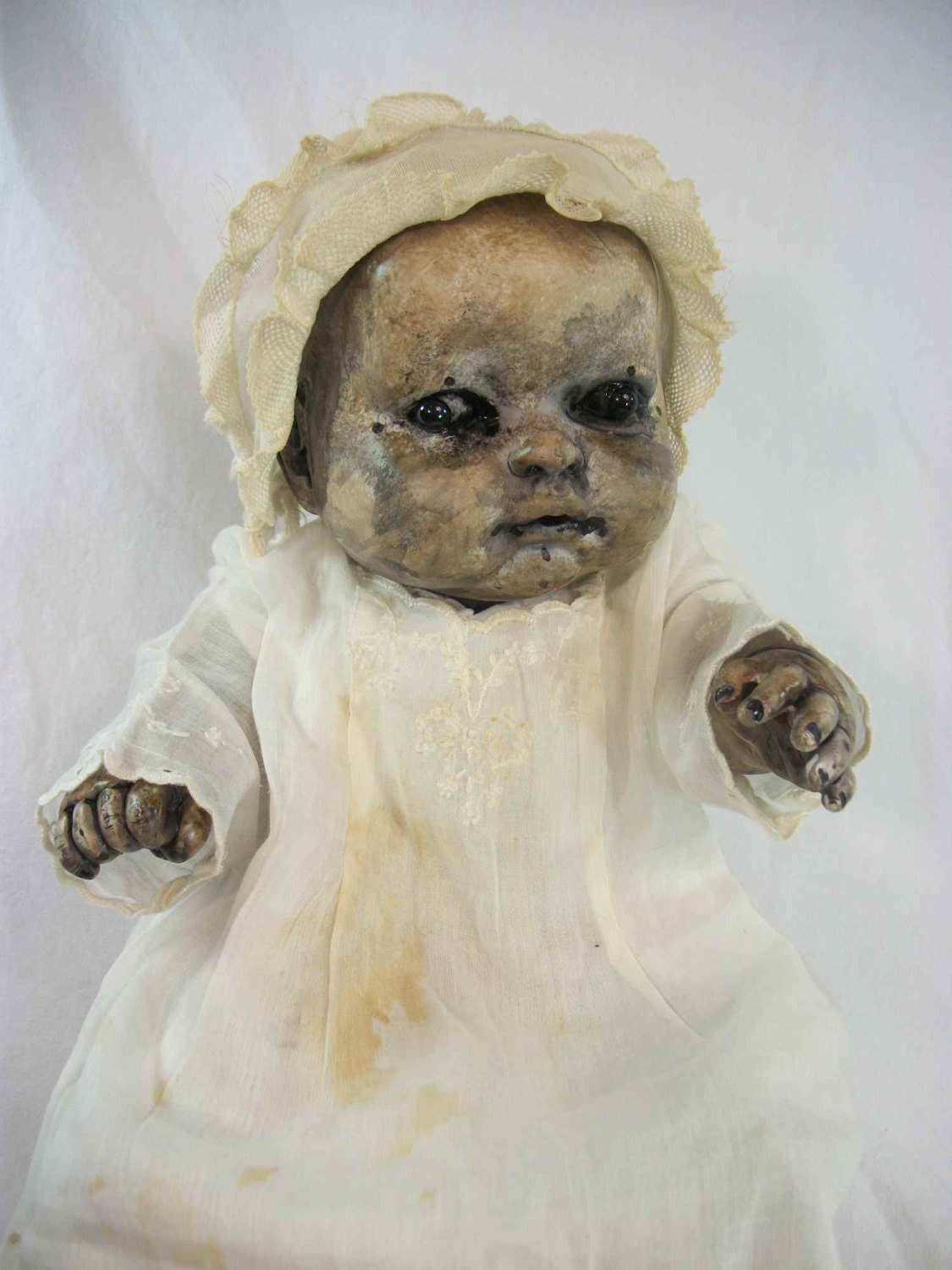 One Of A Kind Altered Art Creepy Doll Baby