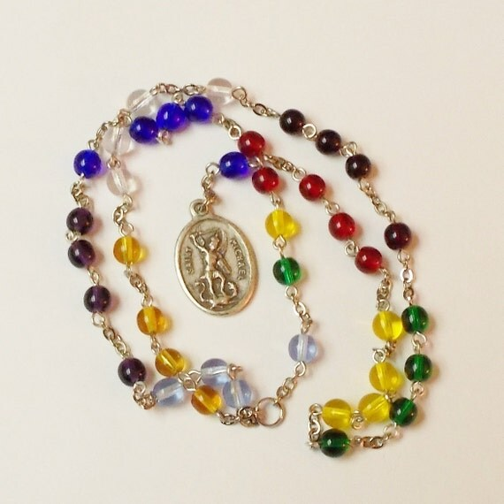 St. Michael Chaplet -- Czech glass beads