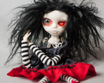 Creepy Gothic Art Doll Lotus