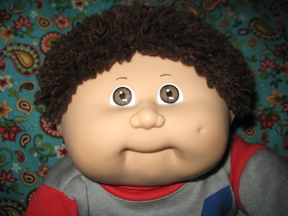 Vintage cabbage patch kid doll fuzzy hair by inwitholdoutwithnew