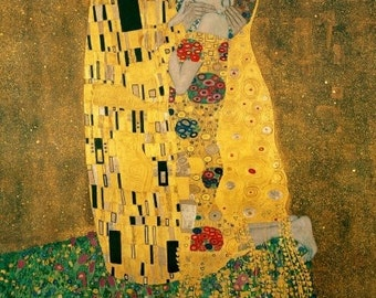 Art Nouveau Art Print of The KISS by Gustav Klimt