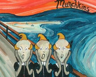 Munchkins // Wizard of Oz Edvard Munch pun art print