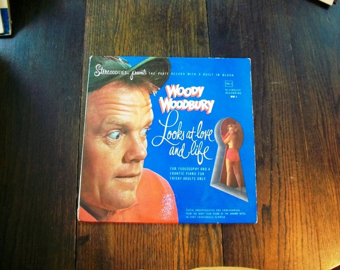 Woody Woodbury Looks At Love And Life Comedy Record Album 1960s Vintage Vinyl